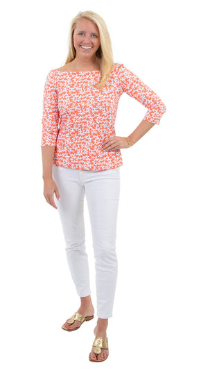 Islander Top - Tiny Coral Coral - FINAL SALE