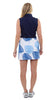 Tennis Skort - Blue Dancing Palms SAMPLE - FINAL SALE