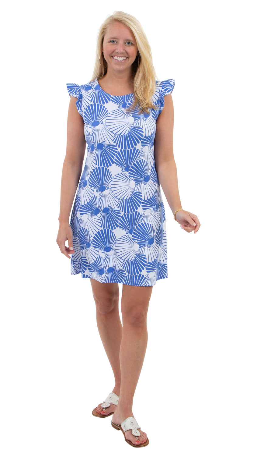 Jojo Dress - Scattered Scallops