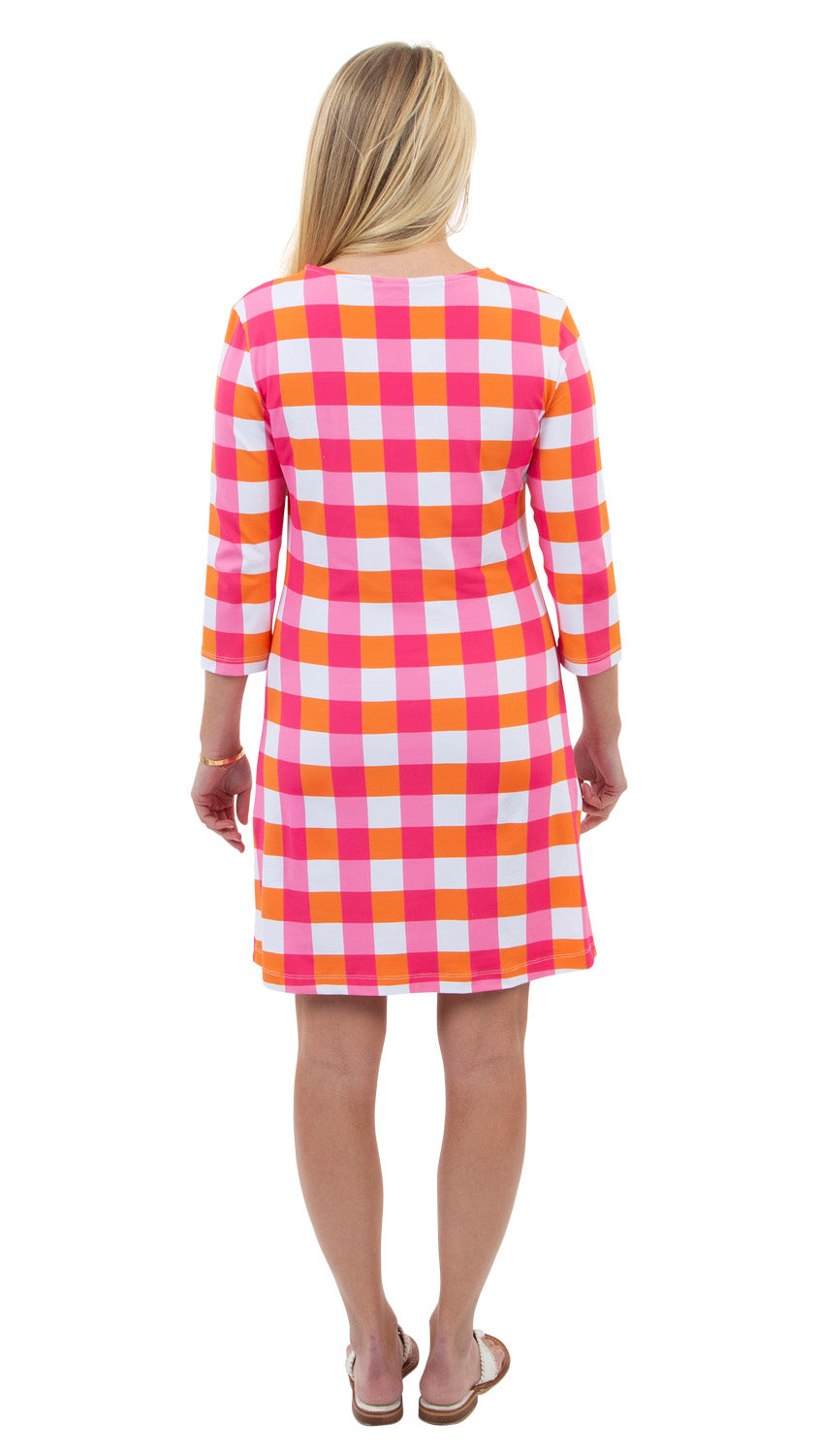 Grace Dress - Chatham Check Pink/Orange - BACK ORDERED 'TIL 4/15