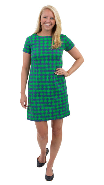 Marina Dress - Navy/Kelly Green Blossoms