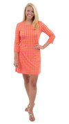 Grace Dress - Geo Pink/Orange- FINAL SALE