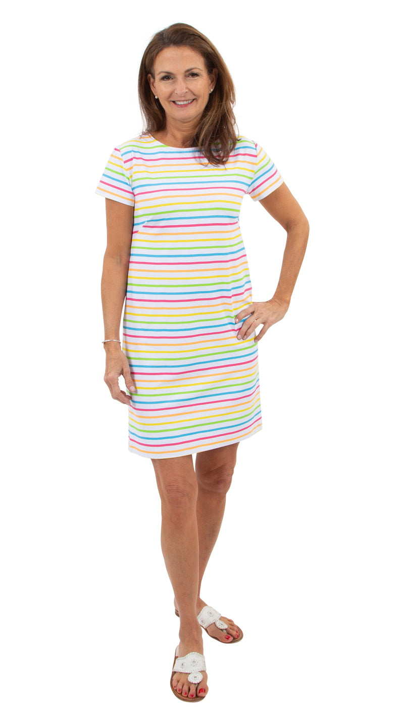 Marina Dress - Tutti Fruity Summer Stripe