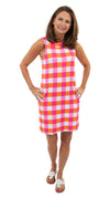 Yacht Club Shift - Pink/Orange Chatham Check - BACK ORDERED 'TIL 4/15