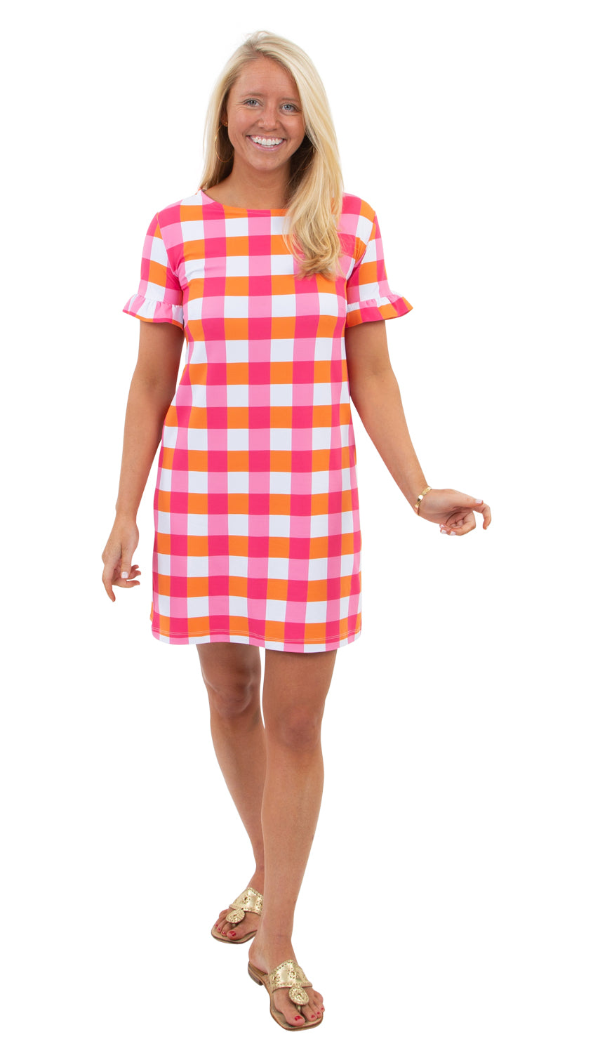Coco Dress - Pink/Orange Chatham Check