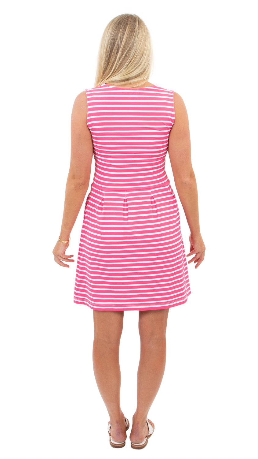 Boardwalk Dress - Hot Pink Summer Stripe