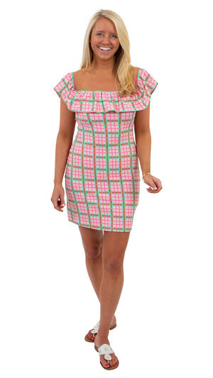 Shoreline Dress - Pink/Green Spring Plaid - FINAL SALE