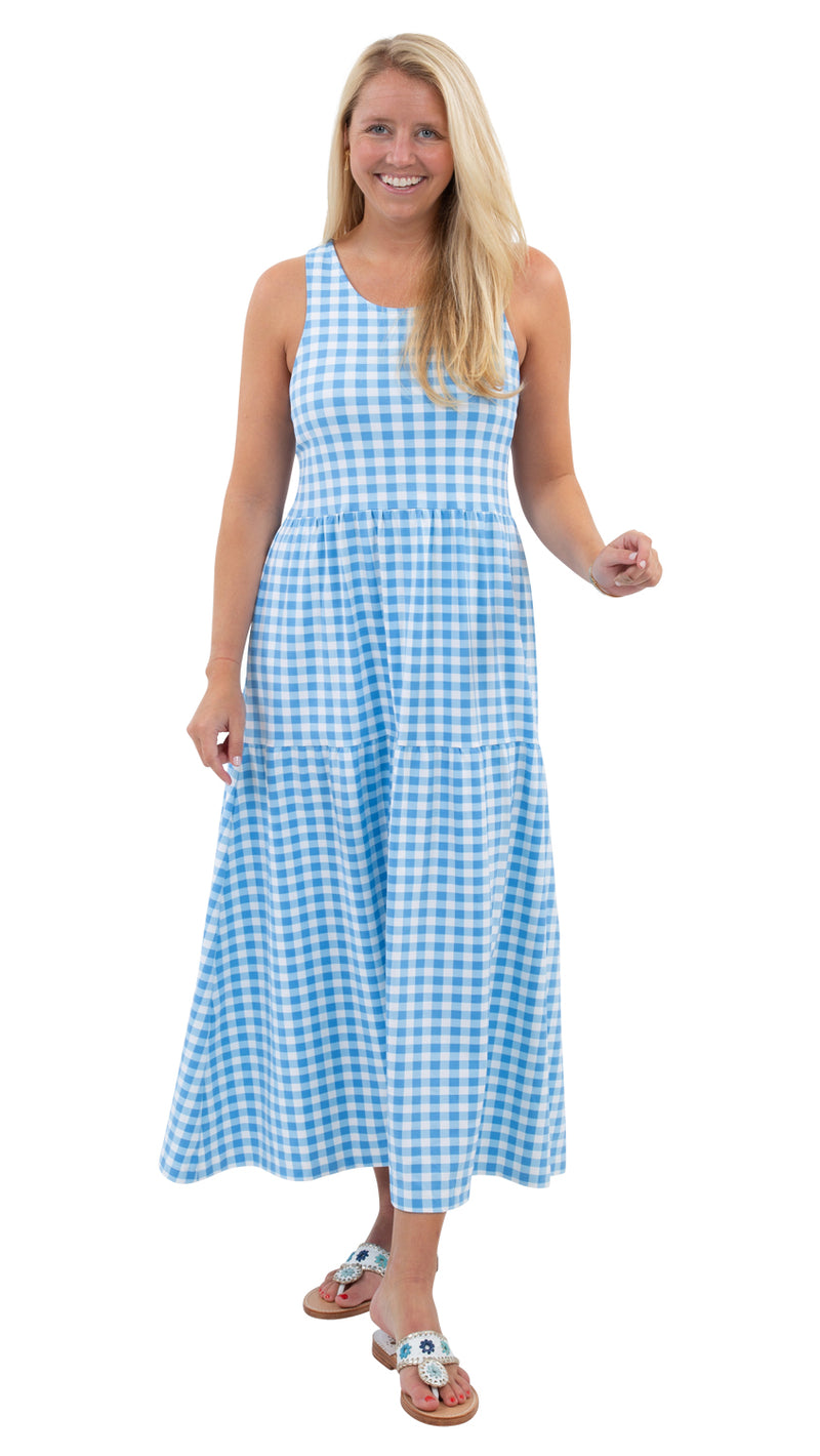 Kate Maxi - Blue Picnic Check
