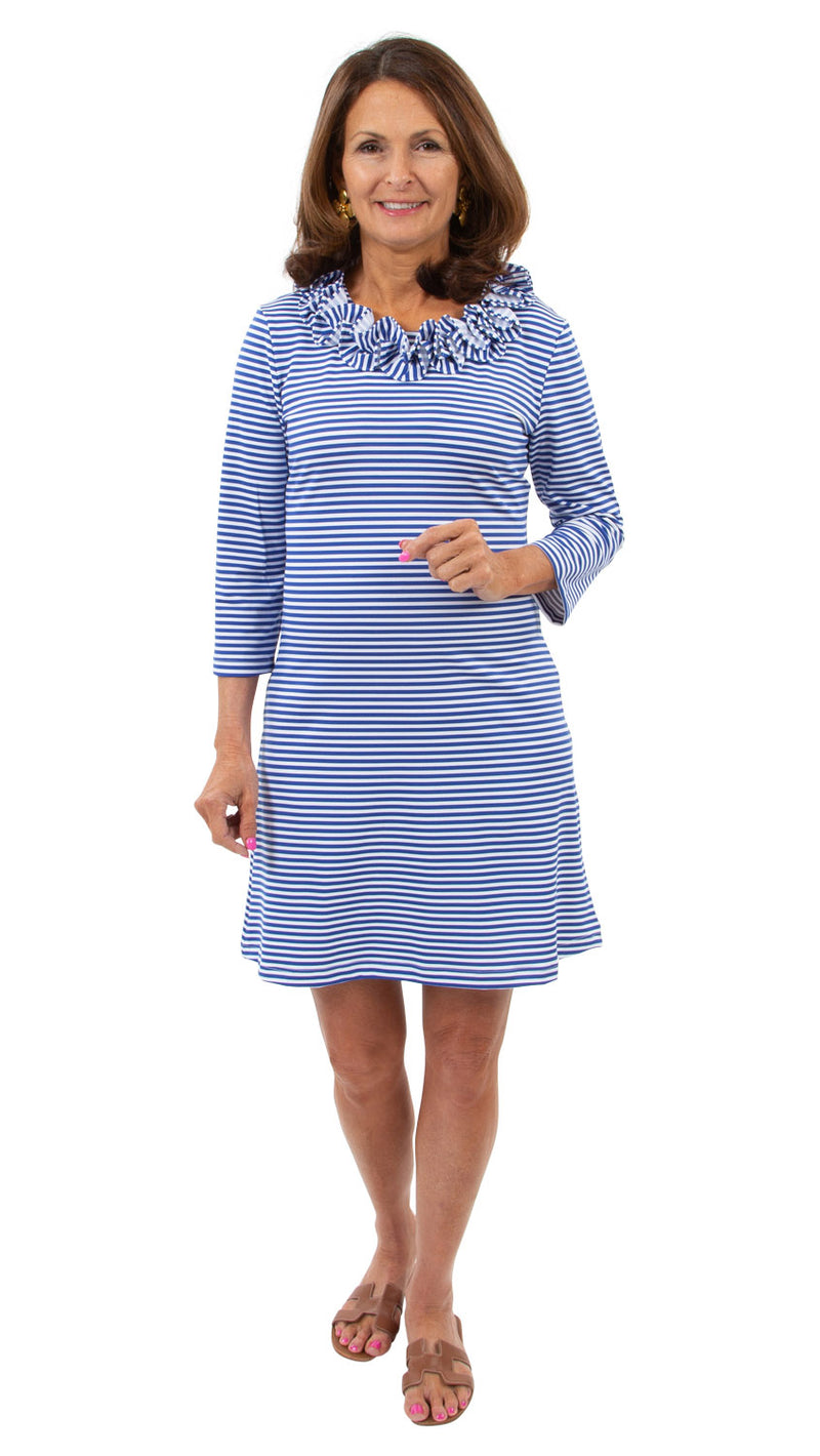 Cricket Dress - Royal/White Stripe - FINAL SALE