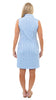 Britt Sleeveless Dress - Picnic Check Azure/White SAMPLE - FINAL SALE