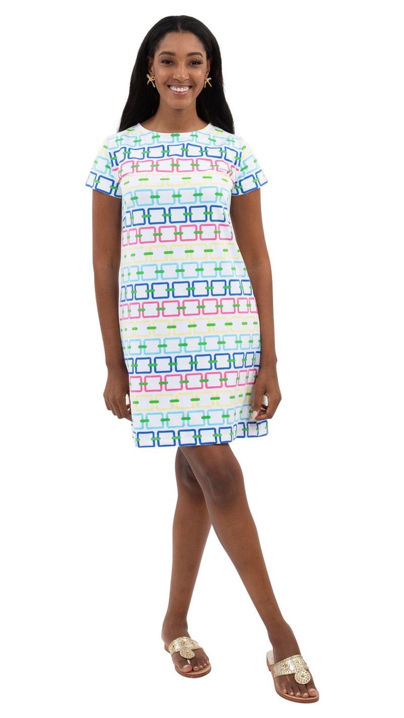 Marina Dress -Rainbow links