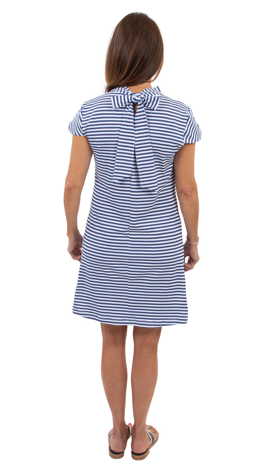 Molly Bow Back - Navy/White Stripe