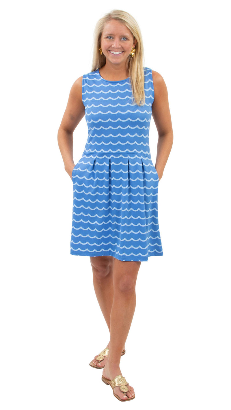 Boardwalk Dress - Soft Wave Sky Blue/Azure - FINAL SALE