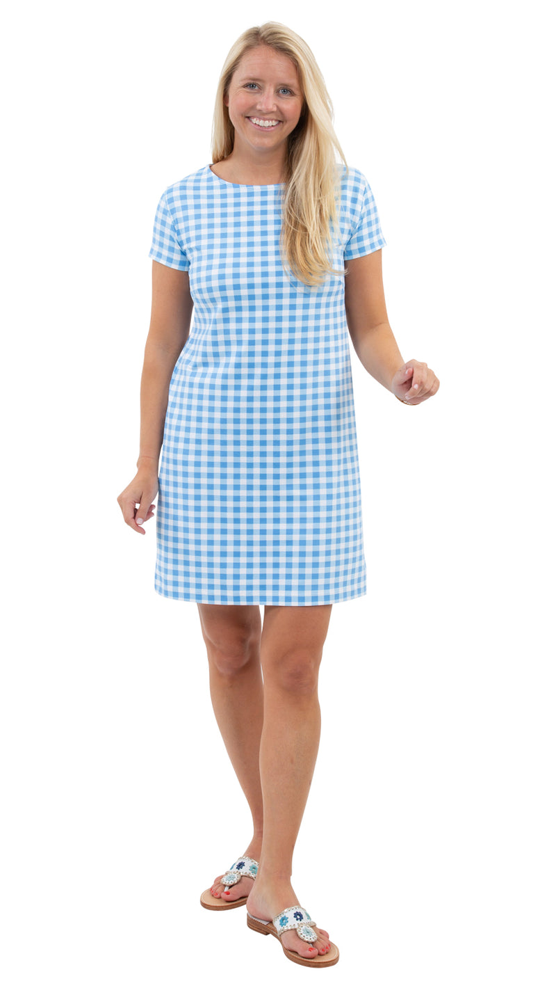 Marina Dress - Blue Picnic Check