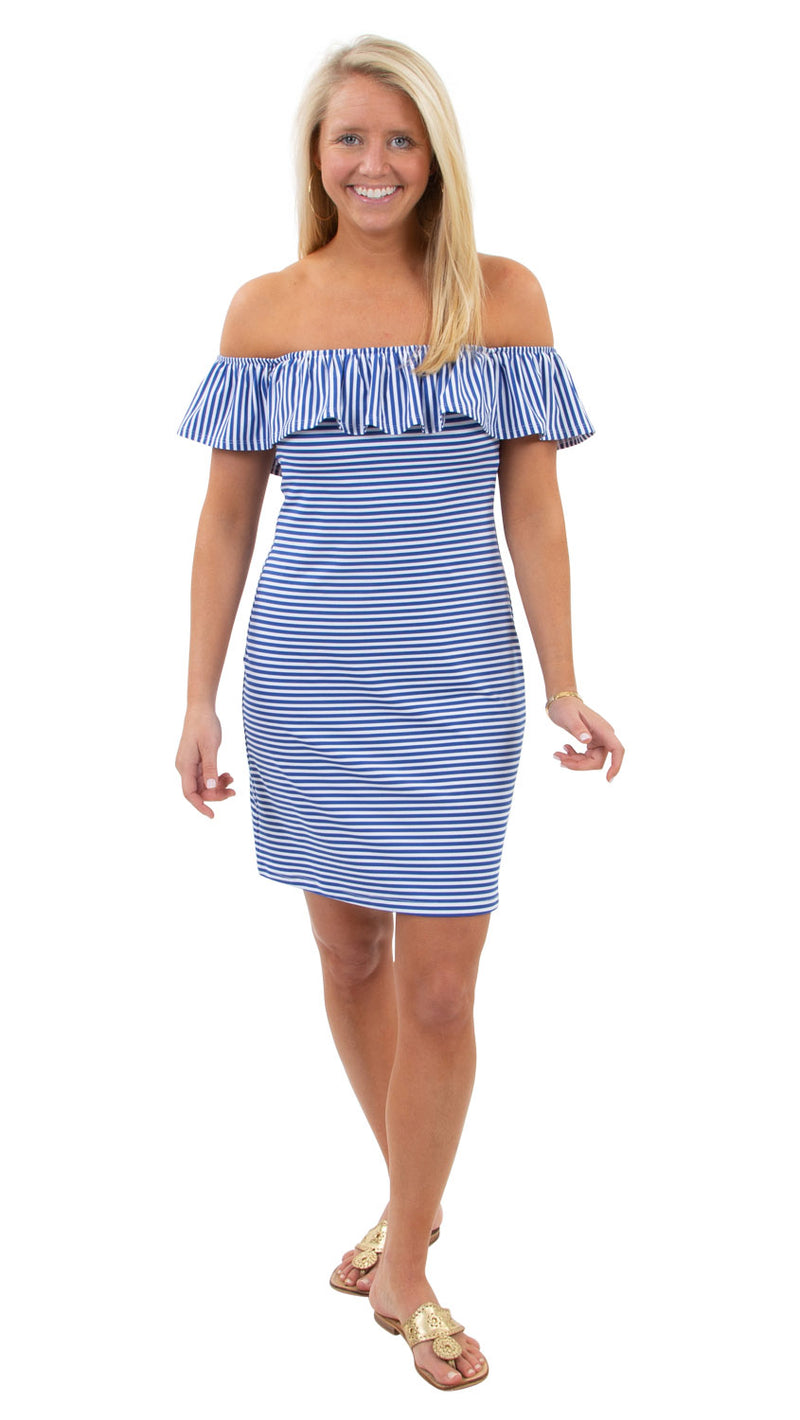 Shoreline Dress - Royal/White Stripe - FINAL SALE