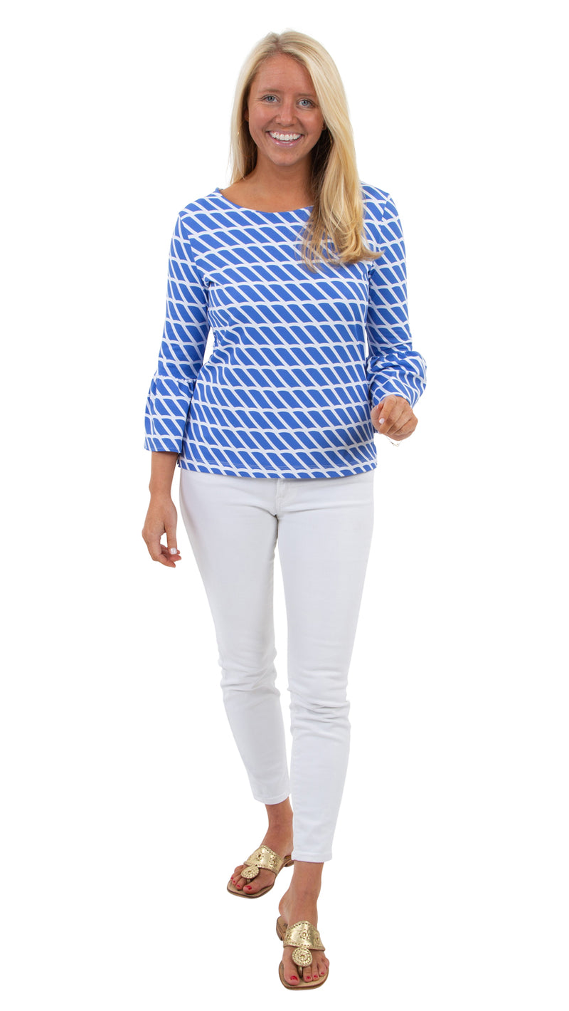 Haley Top - Blue/White Rope Stripe - BACK ORDERED 'TIL 4/15