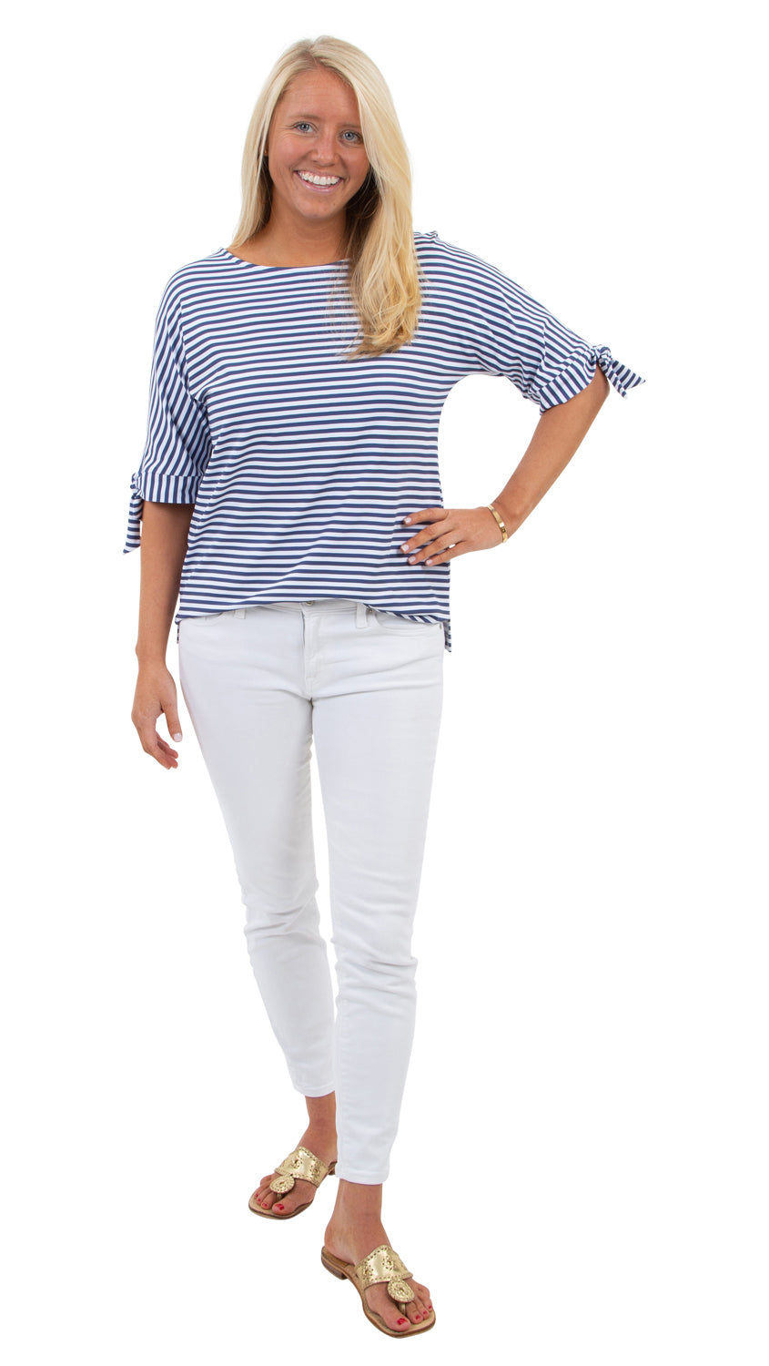 Louise Top - Navy/White Stripe