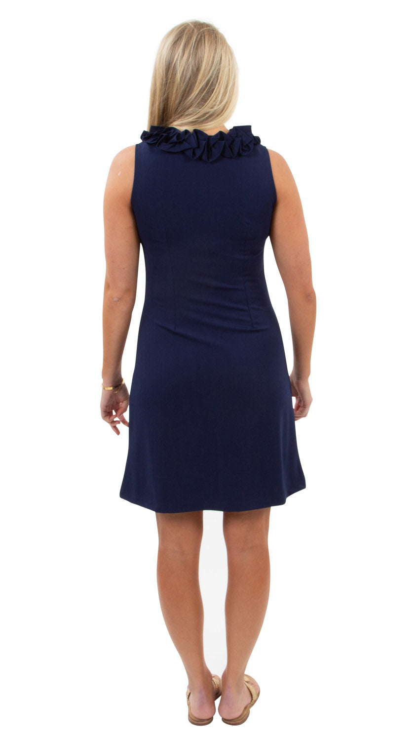 Cricket Sleeveless Dress - Solid Navy