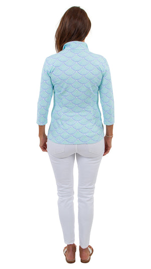 Britt Top 3/4 Sleeve - Sea Glass - FINAL SALE