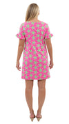 Coco Dress - Pink/Green Sea Star