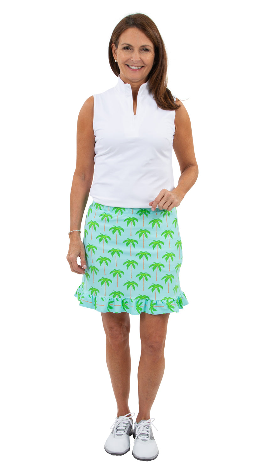 Ruffled Skort - Palm Trees