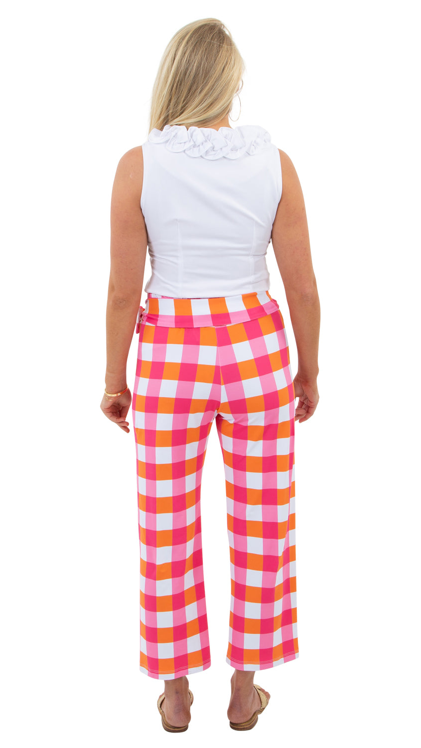 Dorothy Pants - Pink/Orange Chatham Check