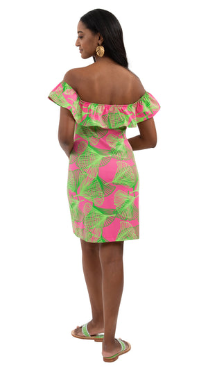 Shoreline Dress - Large Gingko Pink/Green