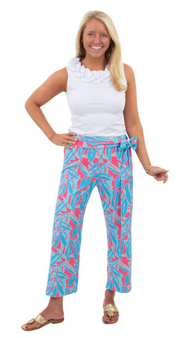 Dorothy Pants - Pink/Blue Tropical Breeze
