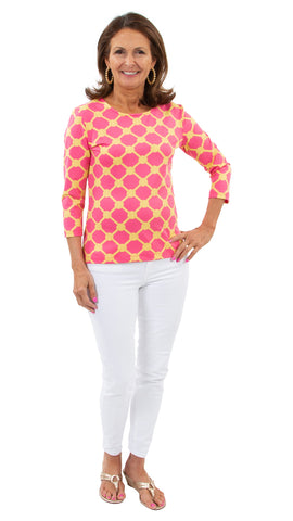 Crew Tee - Knotted Rope Ball Pink/Yellow