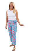 Dorothy Pants - Pink/Blue Tropical Breeze - FINAL SALE