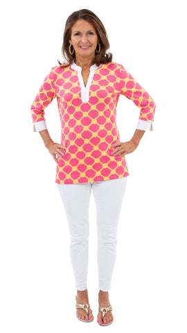 Meagan Tunic - Knotted Rope Ball Pink/Yellow