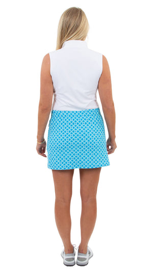 Tennis Skort - 15 inches -Blue Bamboozled