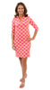 Bridget Dress 3/4 Sleeve - Knotted Rope Ball Pink/Yellow