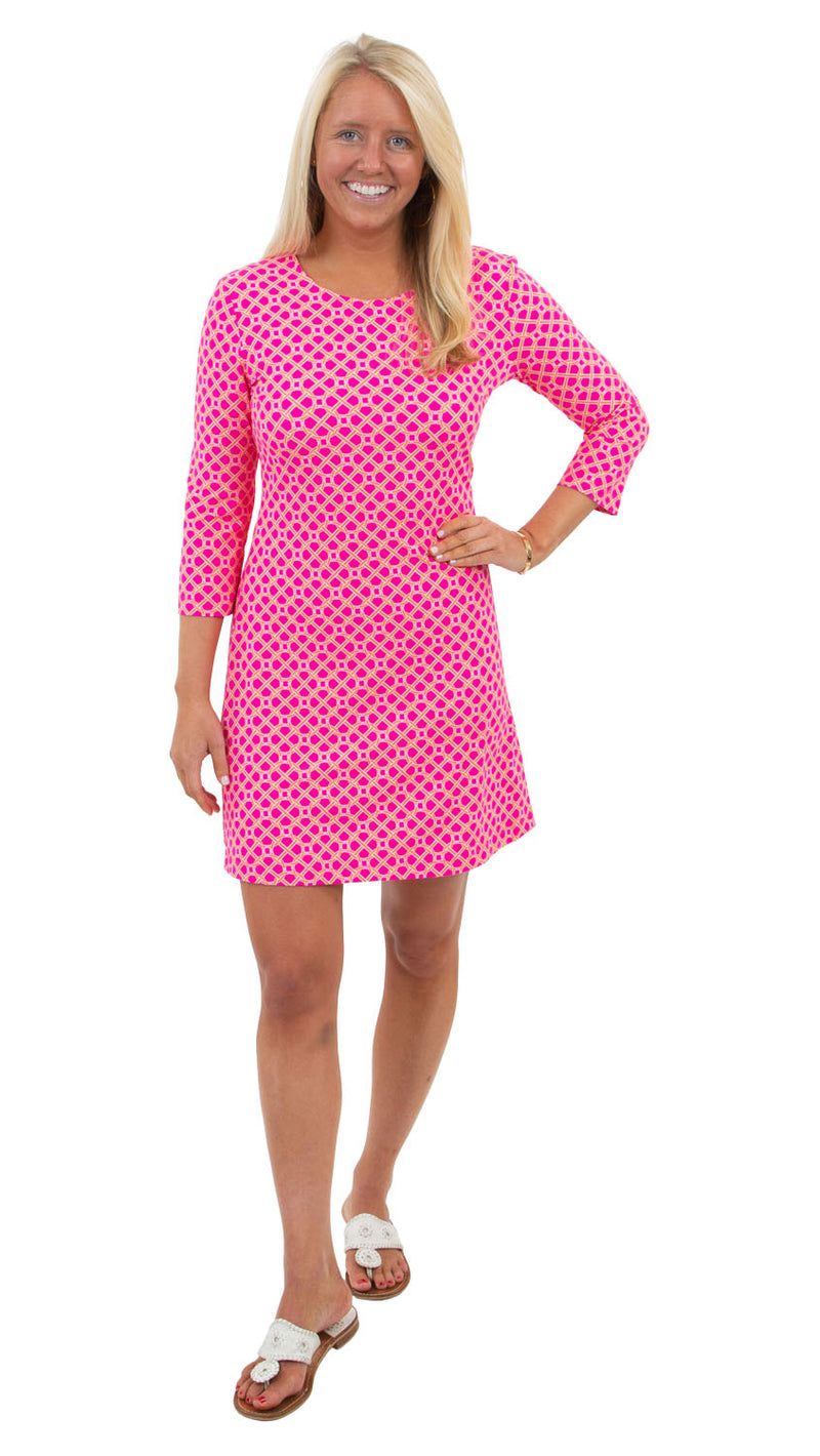 Grace Dress - Pink/Orange Bamboozled