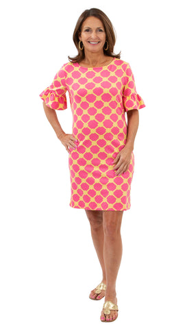 Dockside Dress - Knotted Rope Ball Pink/Yellow