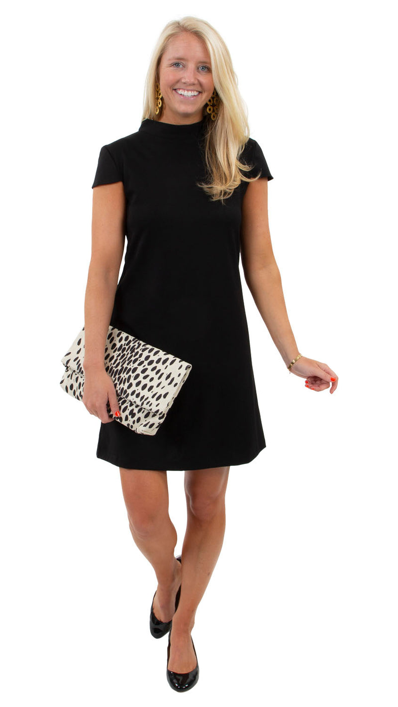 Molly Bow Back Dress - Solid Black
