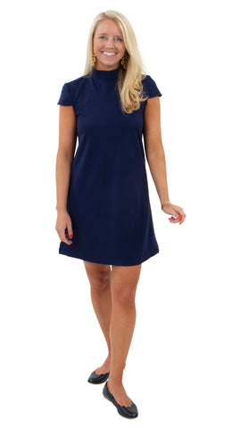 Molly Bow Back Dress - Solid Navy
