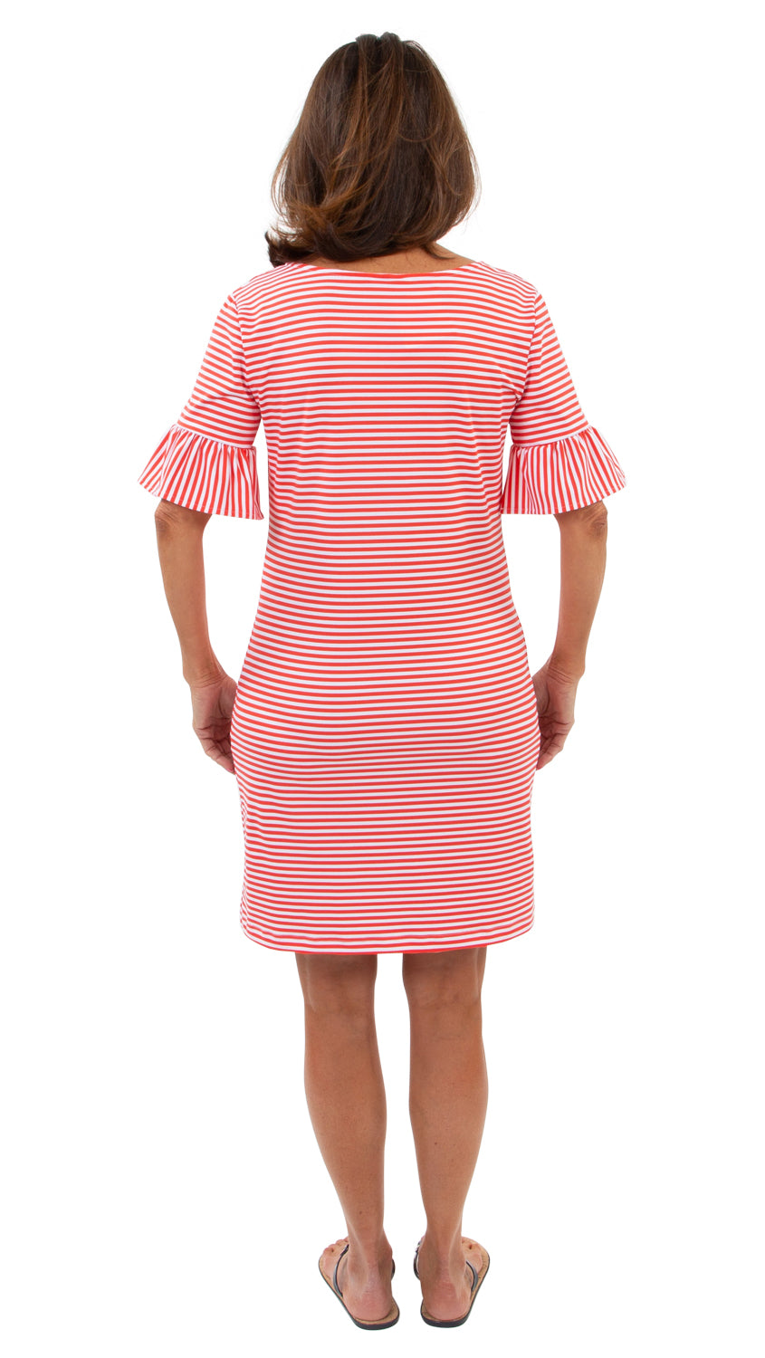 Dockside Dress - Red/White Stripe