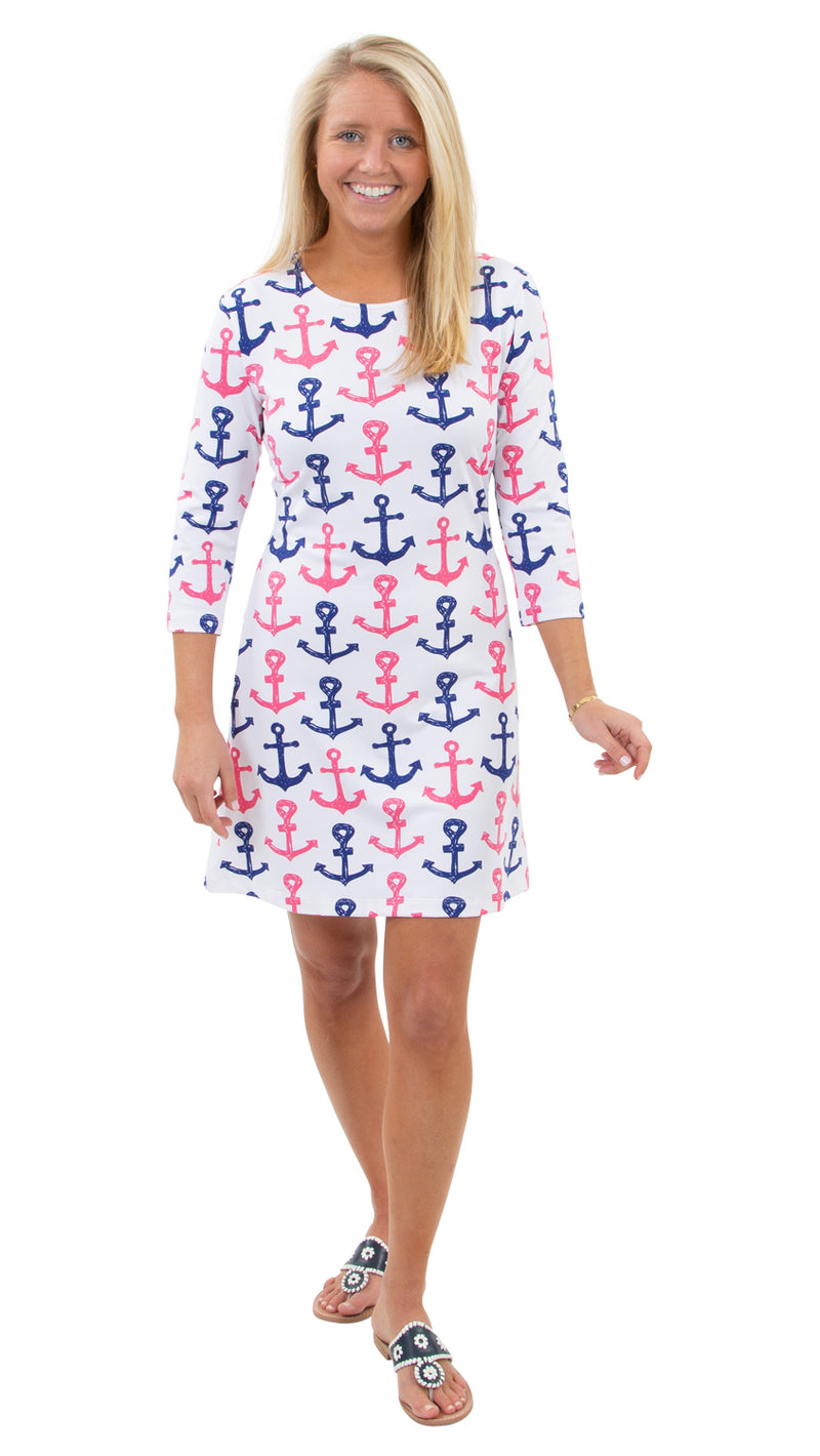 Grace Dress - Scribble Anchors - FINAL SALE