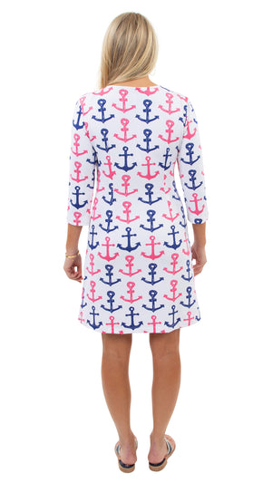 Grace Dress - Scribble Anchors
