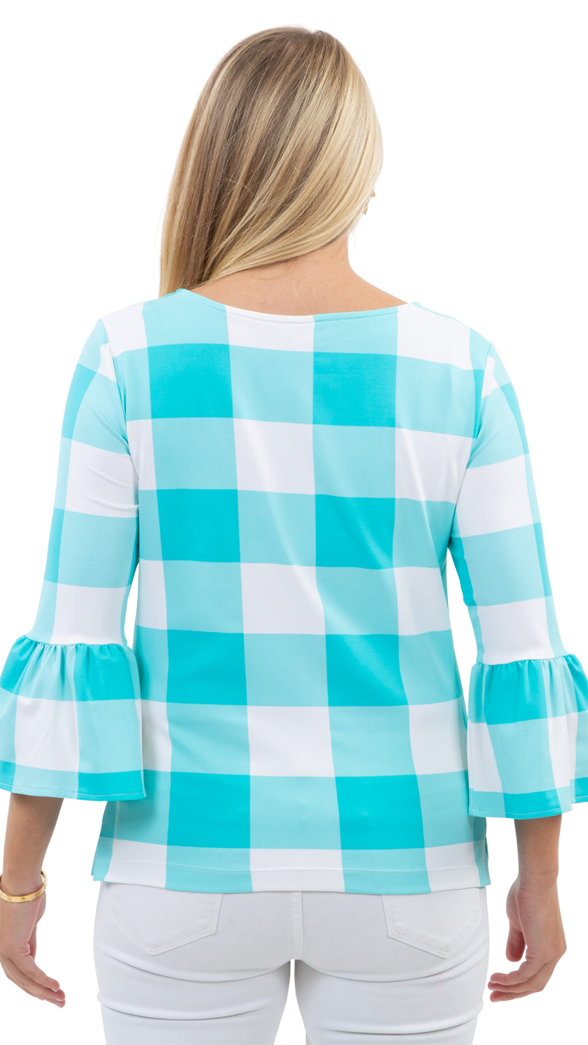 Haley Top - Blue Curacao Beach Check