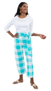 Dorothy Pants - Blue Curacao Beach Check