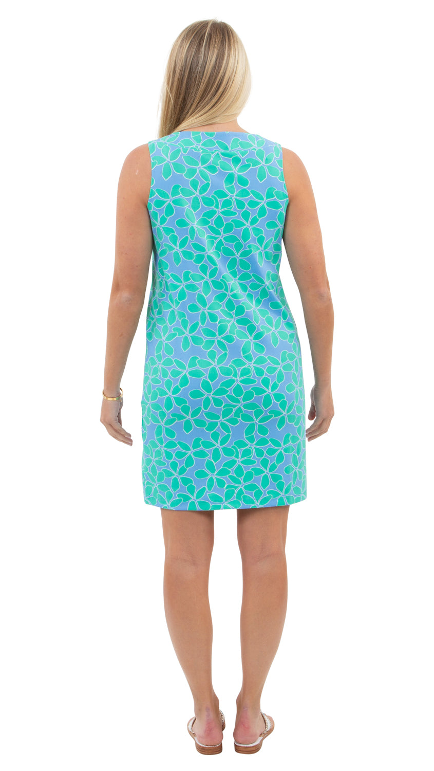 Yacht Club Shift - Resort Hibiscus Mint/Blue