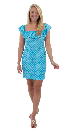 Shoreline Dress - Blue Bamboozled