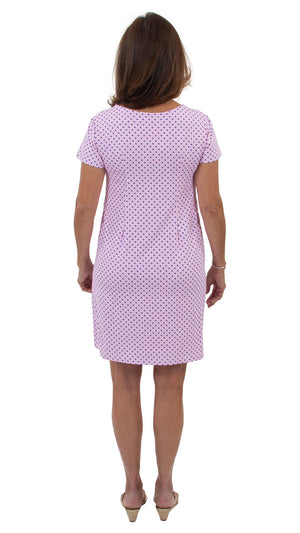 Marina Dress - Blue/Pink Basket Weave - FINAL SALE
