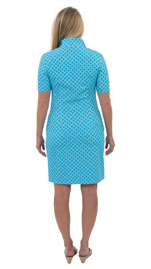 Britt Dress Short Sleeve - Blue Bamboozled - FINAL SALE