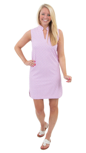 Seaport Shift - Blue/Pink Basket Weave - FINAL SALE