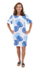 Dockside Dress - Blue Dancing Palms SAMPLE - FINAL SALE