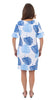 Dockside Dress - Blue Dancing Palms
