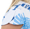 Molly Bow Back - Blue Dancing Palms - FINAL SALE